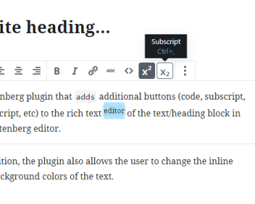 Additional Editor Buttons
