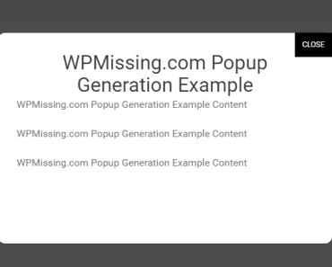 Create Unique Modal Windows With Popup Generation Plugin