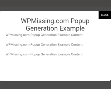 Create Unique Modal Windows With Popup Generation Plugin