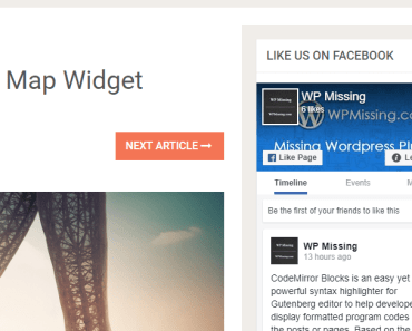 Numb Facebook Page Widget