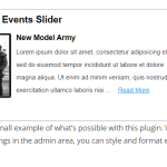 Events Manager Slider