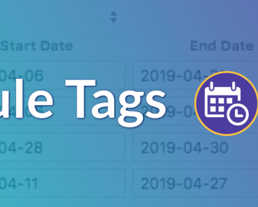 Display Post Tags For A Given Time Frame - Schedule Tags
