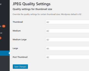Customize the Quality Of The Thumbnails - JPEG Quality Settings