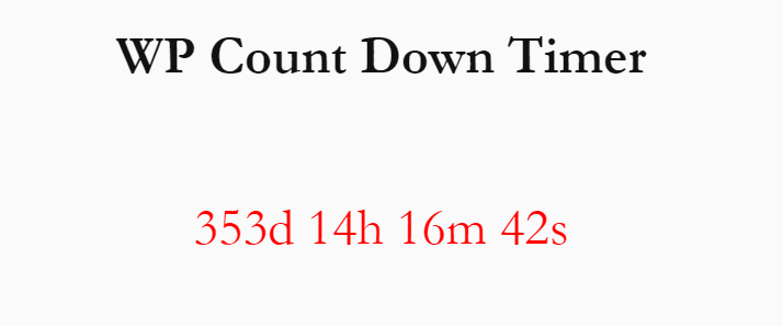 Create A Minimal Countdown Timer With Shortcode
