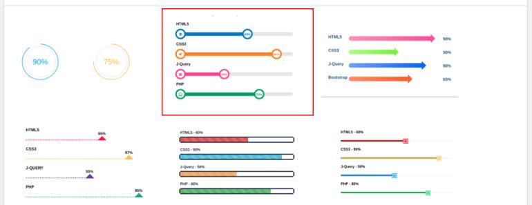 Creative Progress Bar Select Template