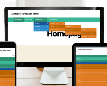 Multilevel Responsive Dropdown Navigation For Wordpress