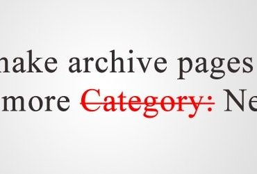 Remove Category Prefix From Archive Title