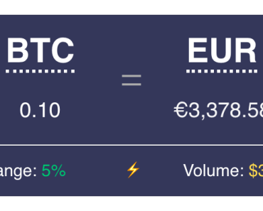 Crypto Converter Widget Preview