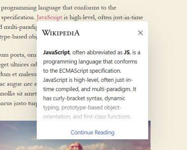 Display Info From Wikipedia On Selected Links - Wikipedia Preview