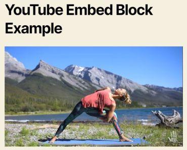 Enhanced YouTube Embed Block For WordPress Gutenberg Editor
