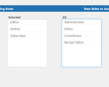 Move User Roles Select