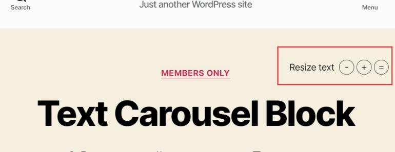 Text Resize Bar Plugin For WordPress - Easy Font Resize