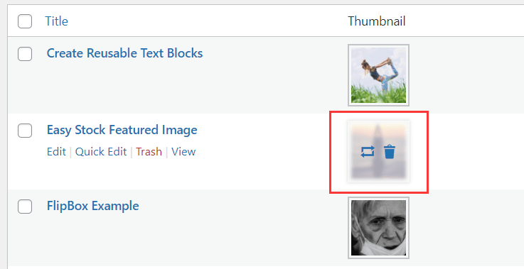 Edit Featured Images Without Editing Posts