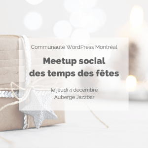 Meetup social du temps des fêtes