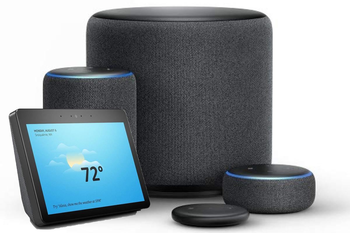 A variety of Amazon Alexa devices
