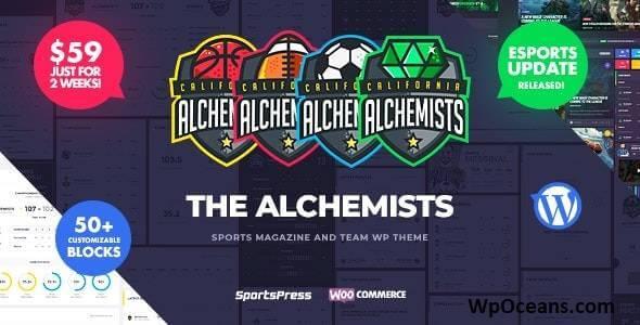 Alchemists v4.4.4 - Sports eSports & Gaming Club and News WordPress Theme(wpoceans.com)