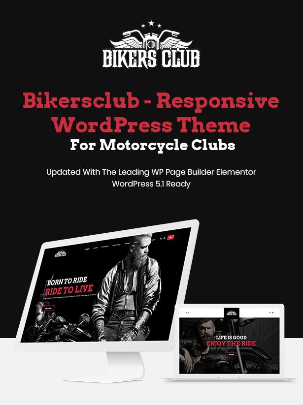Bikersclub Motorcycle Responsive WordPress Theme