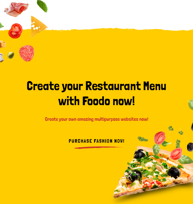 WordPress theme of fast food restaurant