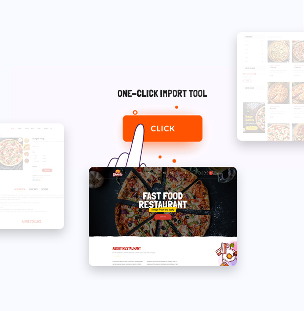 Foodo One Click - Fast food restaurant WordPress theme