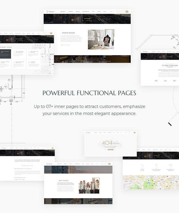 Powerful Functional Pages in MaisonCo - Single Property For Sale & Rent WordPress Theme