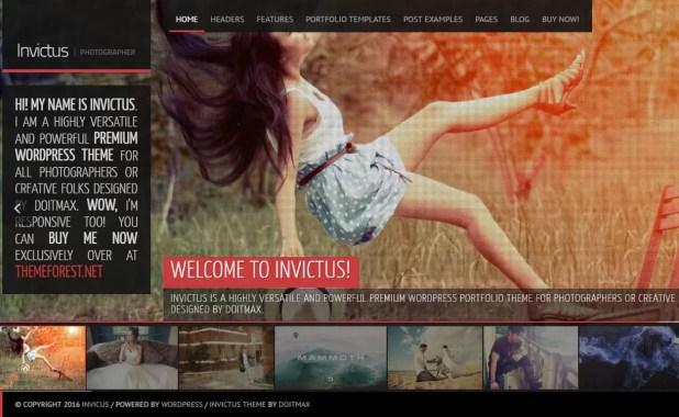 Invictus - Top 5 Premium Photography WordPress Themes