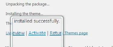 installing theme-WPoperation