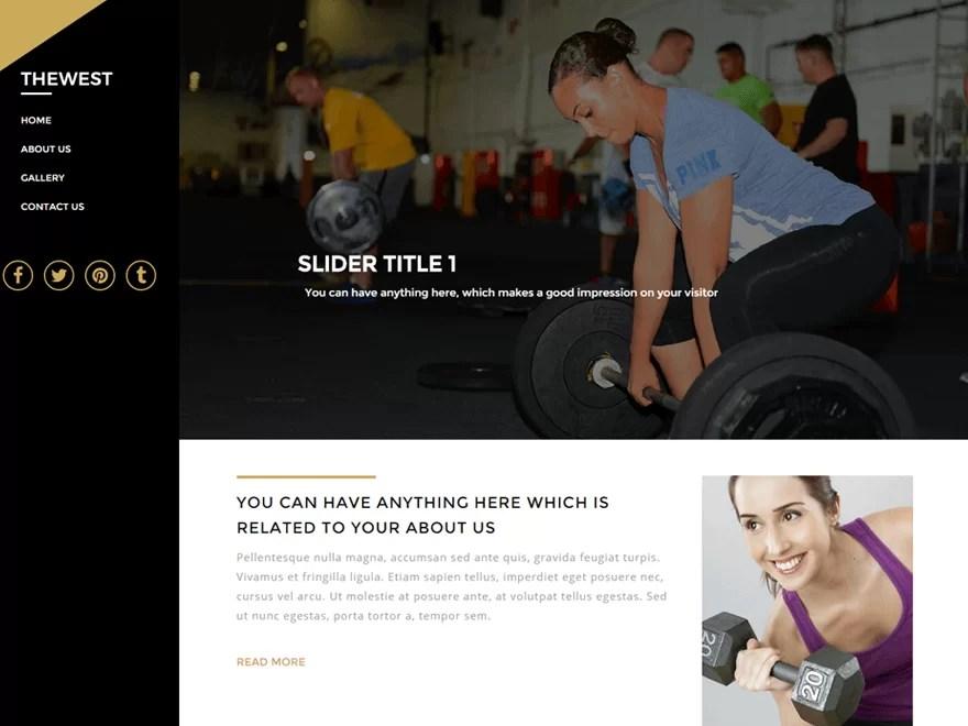 thewest-best wordpress fitness theme