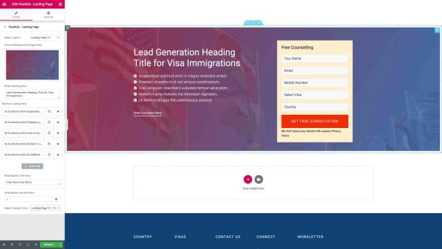 Landing Page Version One
