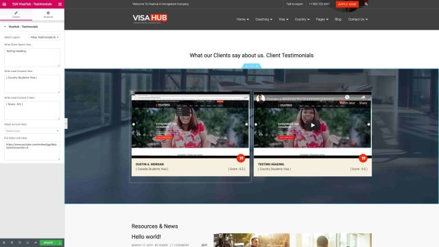 Video Testimonials Style One
