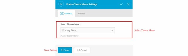 Menu - Praise Church