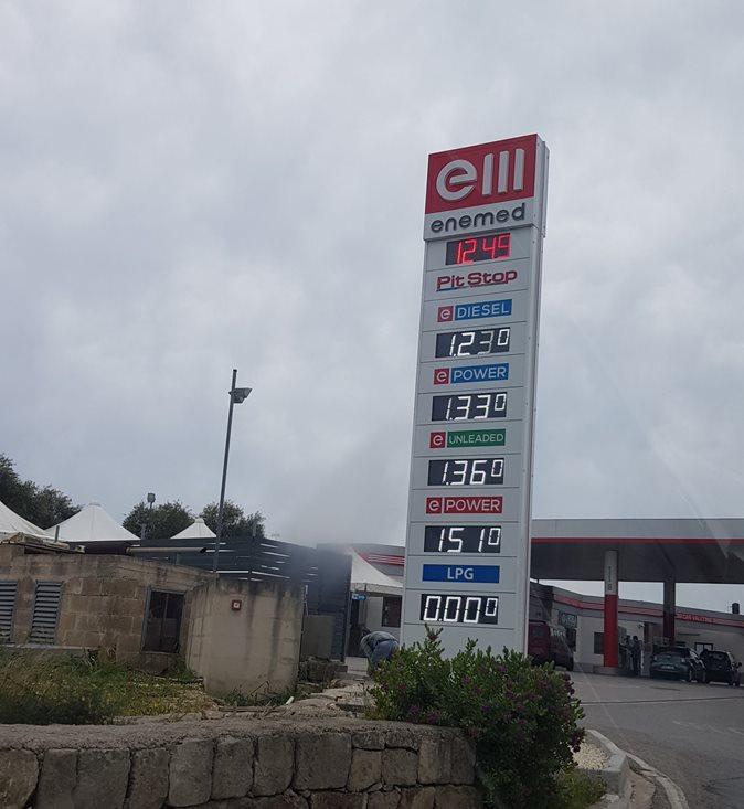 cena paliwa naMalcie