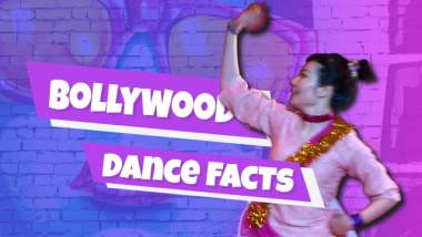 Image shows a Bollywood dancer dancing.