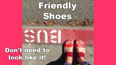 Iamge shwos: Environmentally friendly sandals