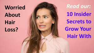Image illustrates concerns to regain hair loss - via Rogaine hair loss treatment.