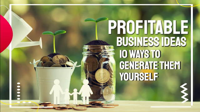 """Featured image with text: """"Profitable business ideas""""."""