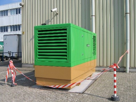 Image of a typical business supply backup generator