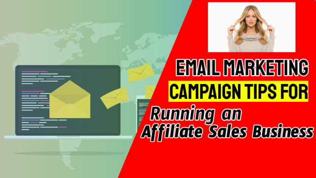 """Image shows the concept of: """"Tips for running an Affiliate Sales Business""""."""