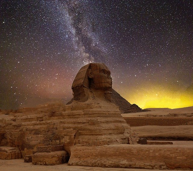 The Sphinx - which is often worth visiting during holidays to Egypt.