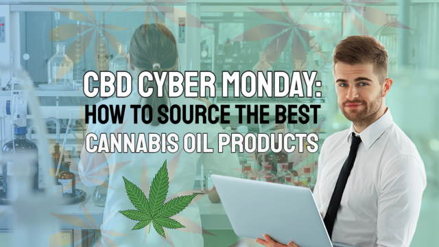 Image shows a lab for production of CBD Cyber Monday promo products.