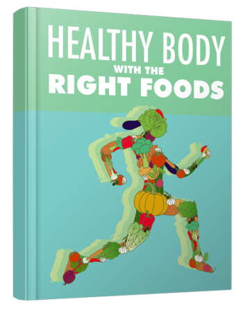 "Cover of the product ebook ""Healthy Body with the Right Foods."