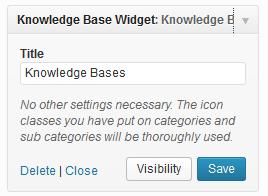 Knowledge Base Widget Settings