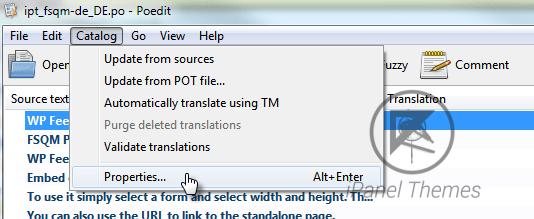 Poedit catalog properties
