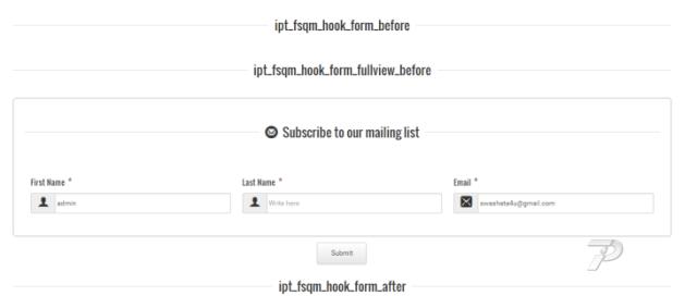API form output