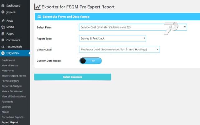 Export Report Wizard