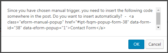 Setting custom popup trigger