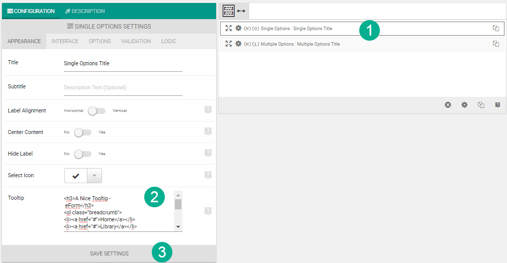 Adding Tooltips to form elements - Working with Form Builder