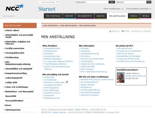 Starnet: Min anställning