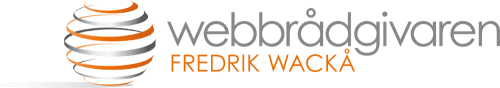 Webbrådgivaren Fredrik Wackå logotyp