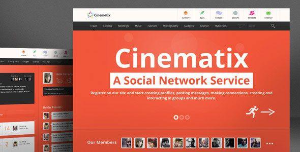 Cinematix Wordpress Theme - BuddyPress Community Theme