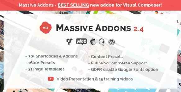 Massive Addons Wordpress Plugin